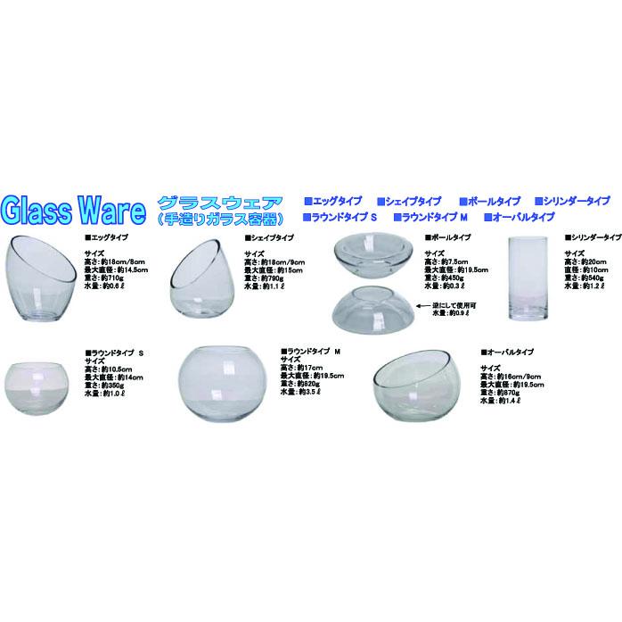Glass Ware ラウンドタイプS(直2個で1個扱い)