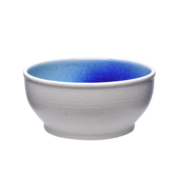 神畑 信楽焼めだか鉢 ホワイト/ブルー